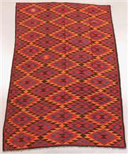 Sale 8438K - Lot 11 - Maimana Afghan Kilim Rug | 285x195cm, Pure Wool, Handwoven in Northern Afghanistan using durable local wool. Traditional slit weave ...