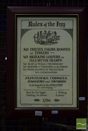 Sale 8530 - Lot 2097 - Rules of the Inn Print