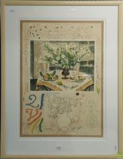 Sale 8595 - Lot 2079 - Michael Eisemann, Lis Du Japon, lithograph, ed. 53/200, frame: 93 x 72cm, signed lower right