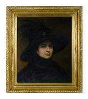 Sale 8620A - Lot 6 - Chevalier, C19th French School - Portrait of a Lady 55 x 46cm