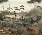 Sale 8642 - Lot 600 - Robert Taylor (1945- 1997) - Ravens & Kangaroos, Kangrilla, SA 50 x 60cm
