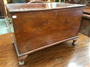 Sale 8666 - Lot 1030 - 19th Century Elm Chest, with hinged top & on later cabriole legs