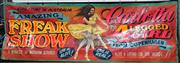 Sale 8822 - Lot 1020 - Hand Painted Side Show Alley Banner Carlotta.. The Four Legged Girl (600 x 200cm)