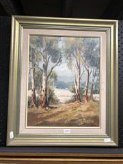 Sale 8816 - Lot 2070 - B. Lee - Howqua Gumsoil on canvas on board, 37 x 29 cm, signed lower right