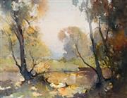 Sale 8958A - Lot 5021 - Reginald Ward Sturgess (1892 - 1932) - River Glad 30 x 39.5 cm (frame: 66 x 76 x 3 cm)