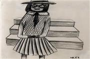 Sale 9002A - Lot 5022 - Charles Blackman (1928 - 2018) - School Girl, Lucy 1953 18 x 22 cm