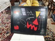 Sale 9004 - Lot 2056 - Framed Miro Print (h:68 x w:88cm)