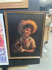 Sale 9072 - Lot 2046 - Vintage Decorative Print of Country Boy by Tovine