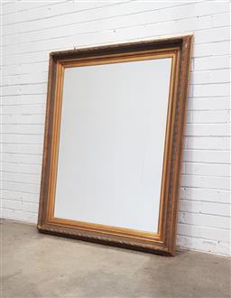 Sale 9112 - Lot 1015 - Large gilt timber frame mirror (150 x 120cm)
