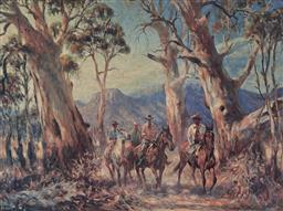 Sale 9139 - Lot 2063 - A pair of decorative prints after George Brooke depicting stockman, frames: 61 x 90 cm -