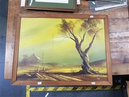 Sale 9127 - Lot 2091 - Artist unknown - Oil on board - landscape