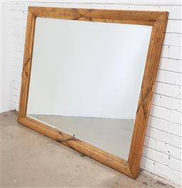 Sale 9137 - Lot 1012 - Timber frame gilt painted mirror ( 121 x 150cm)