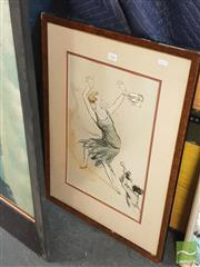 Sale 8449 - Lot 2088 - Framed Artwork The Twenties Jazz Club, signed Letellier