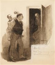 Sale 8642 - Lot 567 - Benjamin Minns (1864 - 1937) - Confrontation 22 x 17cm