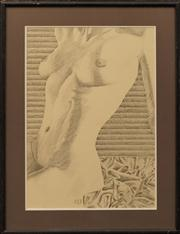 Sale 8663 - Lot 2100 - Artist Unknown (C20th) - Seated Nude, 1989 67 x 47cm