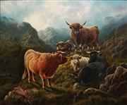 Sale 8813 - Lot 558 - William Perring Hollyer (1834 - 1922) - Highlanders 62.5 x 75cm