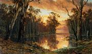 Sale 8958A - Lot 5022 - James Waltham Curtis (c1839 - 1901) - Head of North Arm, Gippsland Lakes 1896 30.5 x 51 cm (frame: 45 x 65 x 6 cm)