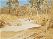 Sale 9047 - Lot 559 - Ray Crooke (1922 - 2015) - Miner in Gully 21.5 x 29.5 cm (frame: 35 x 43 x 3 cm)