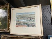 Sale 9041 - Lot 2090 - Wendy Loefler Mungo 1 - Wildflower watercolour, 50 x 57cm (frame) -