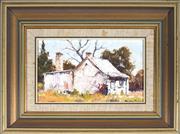 Sale 9058 - Lot 2001 - Dudley Parker (1914 - 1989) - Country Cottage 12 x 21 cm (frame: 28 x 37 x 4 cm)