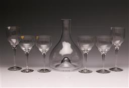 Sale 9107 - Lot 87 - A Georg Jensen Carafe Together with A Set of 4 Orrefors Wine Glasses and 2 Others