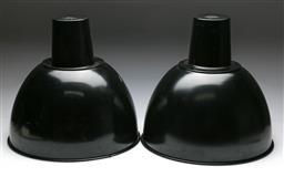 Sale 9148 - Lot 13 - Pair of industrial enamelled downlights (H:42.5cm Dia:44cm)