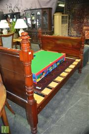 Sale 8390 - Lot 1616 - Timber Double Bed Frame with Slats