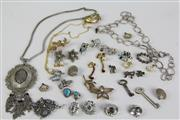 Sale 8463 - Lot 14 - Bag Of Vintage Jewellery Including Some Silver And Gold Examples