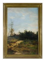 Sale 8620A - Lot 27 - Charles Clair, French 1860- 1930 - Barbizon Landscape