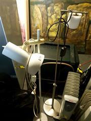 Sale 8663 - Lot 2183 - 4 Various Lamps & a Hanging Light