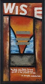 Sale 8891 - Lot 2032 - Lisa C Boyd - Wise 64 x 34 cm