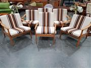 Sale 8908 - Lot 1039 - Vintage Three Piece Lounge Suite with Paddle Arms and Matched Chair (4)