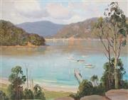 Sale 9001 - Lot 509 - Erik Langker (1898 - 1982) - Calmer Day, Pittwater 29.5 x 37 cm (frame 41 x 48 x 3 cm)
