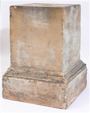 Sale 8994H - Lot 69 - Early heavy composite plinth with wash finish, 63 x 49cm -