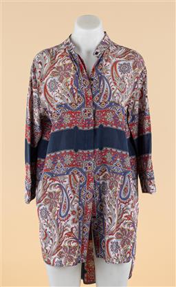 Sale 9250F - Lot 71 - A Scanlan & Theodore scarf print shirt dress, size M.