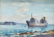 Sale 8652A - Lot 5062 - James R Jackson (1882 - 1975) - Botany Bay, NSW, c1920 12 x 17cm