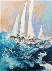 Sale 8657A - Lot 5034 - Cheryl Cusick - Sails Up 122 x 92cm