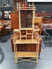 Sale 8705 - Lot 1050 - Bamboo Hall Stand