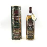Sale 8785 - Lot 631 - 1x Bushmills 10YO Single Malt Irish Whiskey - old bottling, 40% ABV, 700ml in canister