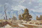 Sale 8867 - Lot 503 - Alan Fizzell (1944 - ) - Capertee Valley 1976 59 x 89.5 cm