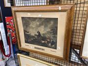 Sale 8906 - Lot 2025 - Morland, G. - Morlands Land-Storm, Engraving, 31x39.5cm