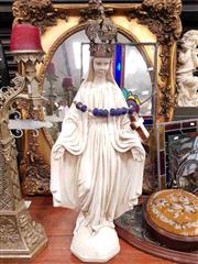 Sale 8925 - Lot 1065 - A composite figure of The Virgin Mary with a crown and crucifix