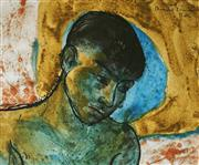 Sale 9013 - Lot 523 - Donald Friend (1915 - 1989) - Wajan, Bali 27 x 33 cm (frame: 40 x 46 x 2 cm)