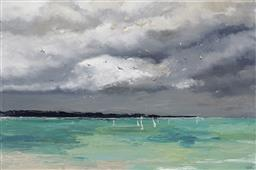 Sale 9221JM - Lot 5050 - CHERYL CUSICK Using the Wind acrylic on canvas 102 x 153 cm signed lower right