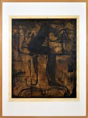 Sale 8363 - Lot 591 - Graham Fransella (1950 - ) - Seated Figures 87 x 71cm