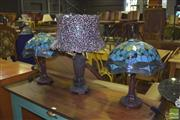 Sale 8390 - Lot 1163 - Pair of Table Lamps & Another