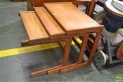 Sale 8528 - Lot 1097 - Danish Nest of 3 Tables