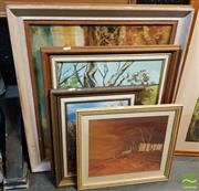Sale 8544 - Lot 2053 - 5 Artworks Various Artists, Landscapes, Various Media & Sizes -