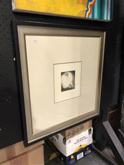 Sale 8853 - Lot 2017 - Norman Lindsay - Untitled (Woman and Moonlight) Facsimile Print 11 x 9.5cm (frame 59.5 x 56.5cm)