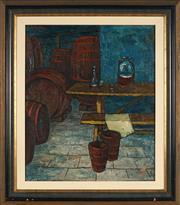 Sale 8945 - Lot 2041 - Dennis Gilbert (1922 - ) - La Cave 66 x 46 cm (frame: 79 x 69 x 4 cm)